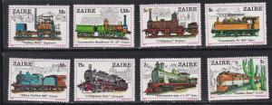 Zaire # 935-942, Locomotives, NH, 1/2 Cat