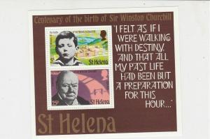 Sir Winston Churchill St Helena Centenary of Birth MNH Mini Stamps Sheet Rf27093