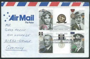 AUSTRALIA 1995 cover to Germany - nice franking - Sydney Pictorial pmk.....14735
