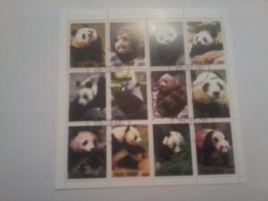 TIMOR SHEET USED PANDA BEARS WILDLIFE