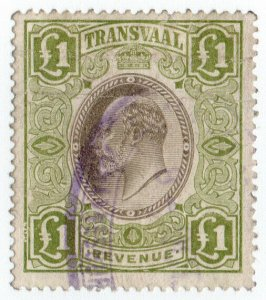 (I.B) Transvaal Revenue : Duty Stamp £1