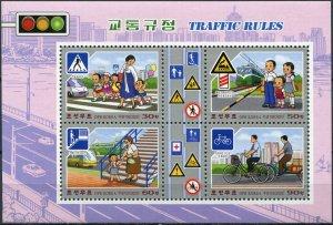 Korea 2020. Traffic Rules (MNH OG) Souvenir Sheet