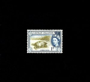 CAYMAN IS - 1954 - QE II - GREEN TURTLE - # 137 - SCAN B - MINT - MNH SINGLE!