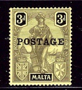 Malta 106 MH 1926 overprint    (ap2429)