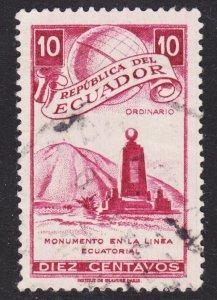 Ecuador Scott 528 F+ used.