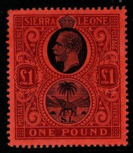 SIERRA LEONE SG128 1912 £1 BLACK & PURPLE/RED MTD MINT