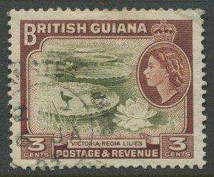 STAMP STATION PERTH British Guiana #255 QEII Definitive Issue Used CV$0.25