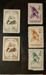 CHINA PRC Sct # 183-4 & 187-189  Mint NH  (two sets)