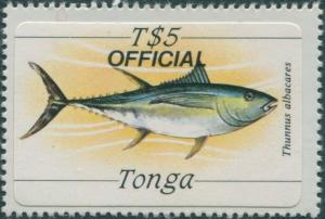 Tonga official 1984 SGO235 5p Yellow-finned Tuna MNH