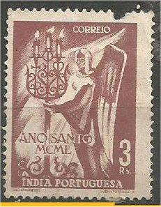 PORTUGUESE INDIA, 1951, MH 3r, Holy Year. Scott 498 Damaged