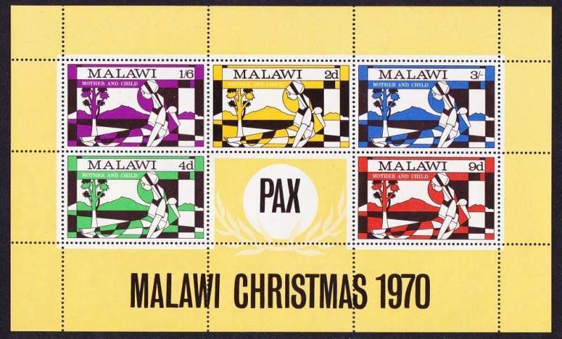 Malawi Christmas Mother and Child MS SG#MS368 SC#146a