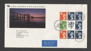 STAMP STATION PERTH GB #1989 Regional Booklet Pane F.D.C- Addressed to me