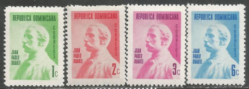 DOMINICAN REPUBLIC 664-67 MOG P523