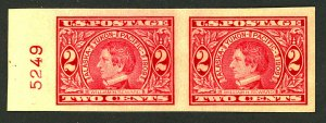 U.S. #371 MINT PL# PAIR OG NH