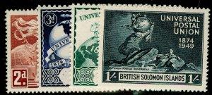 BRITISH SOLOMON ISLANDS SG77-80, COMPLETE SET, VLH MINT. UPU