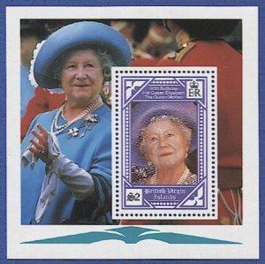 BRITISH VIRGIN ISLANDS Sc 677 Queen Mother $2, S/S, MNH VF