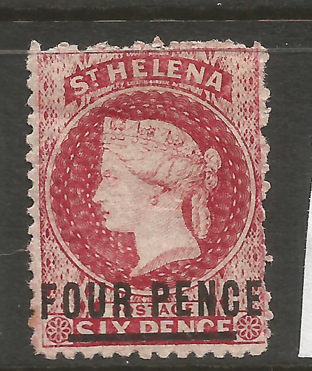 ST HELENA  1864-80  4d   QV  MH   P12 1/2   SG 15