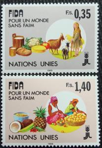 UN Geneva #162-163 MNH, 2 Singles, IFAD, SCV $1.75 L10