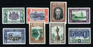 SOUTHERN RHODESIA KG VI 1940 Complete BSA Co. Jubilee Set SG 53 to SG 60 MINT
