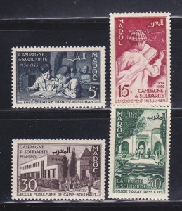 French Morocco 305-308 Set MH Franco Moslem Solidarity