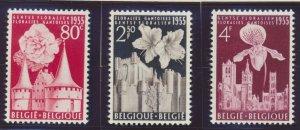 Belgium Stamps Scott #482 To 484, Mint Hinged - Free U.S. Shipping, Free Worl...