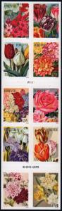 SC#5051b (49¢) Botanical Art Booklet of Ten (2016) SA