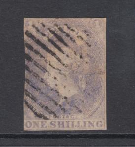 Ceylon Sc 11 used 1857 1sh pale violet imperf QV, scarce
