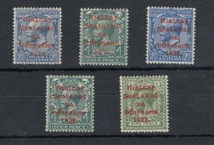 Ireland 1922 Definitive Mint Set Red O/P MH J6291