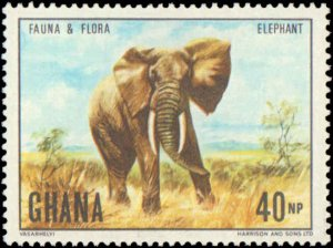 Ghana #402-405, Complete Set(4), 1970, Animals, Flowers, Never Hinged