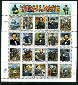 2975 Civil War Sheet  CV $35