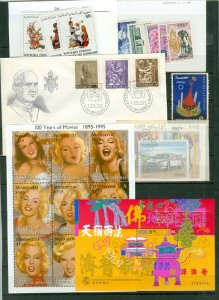 WORLDWIDE  (14) LOTS FROM MERCHANT STOCK...SOME MNH