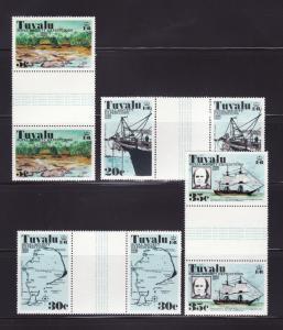 Tuvalu 54-57 Gutter Pairs Set MNH Various (D)