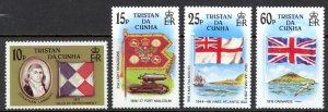Tristan Da Cunha Sc# 377-380 MNH 1985 Flags
