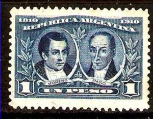 LOT 250 ARGENTINA 1910 CENTENARY, 1 peso Sc 172,GJ 312,MT160 MLH