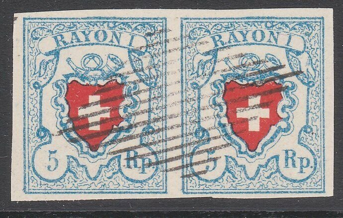 SWITZERLAND  An old forgery of a classic stamp - PAIR.......................C104