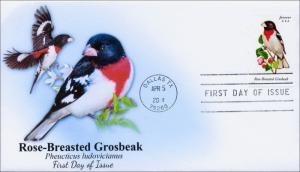 SC 4889, 2014 Songbirds, Rose-Breasted Grosbeak, FDC,  Item 14-044