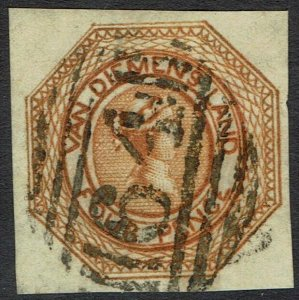 TASMANIA 1853 QV COURIER 4D IMPERF USED