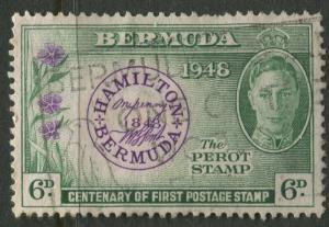 Bermuda -Scott 137 - Postmaster Stamp - 1949 - Used  - 6p Stamp