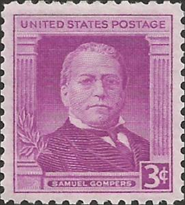 # 988 MINT NEVER HINGED SAMUAL GOMPERS
