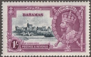Bahamas stamp, Scott#95,  mint, hinged, 1D,  violet, #95