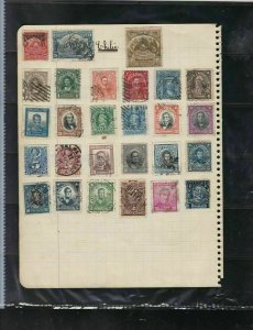 chile stamps page ref 18454