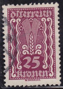 Austria 261 USED 1922 Symbols of Agriculture 25k