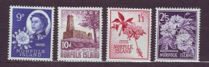 J23149 JLstamps 1960-2 norfolk island part of set mnh #34-7 designs
