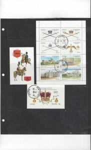 Scotland - Staffa Deluxe Sheet of 8 D/L 2 Souvenir Sheets Various CTO O/G NH