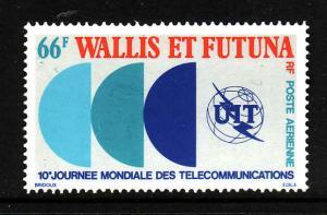 Wallis & Futuna-Sc#C82-unused NH Airmail set-ITU emblem-1978-