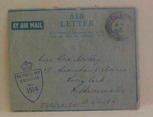 PALESTINE  AIR LETTER FPO 148 JERUSALEM 1945 APRIL 6