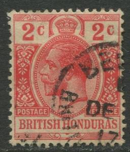 British Honduras- Scott 76- KGV Definitive -1913- FU -Single 2c Stamp