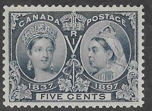Canada # 54  Diamond Jubilee  1897   5-cent   (1)   VF Unused VLH