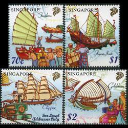SINGAPORE 1999 - Scott# 891-4 Sailing Ships Set of 4 NH