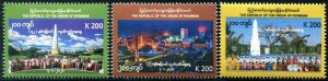 HERRICKSTAMP NEW ISSUES MYANMAR Independence Day 2020